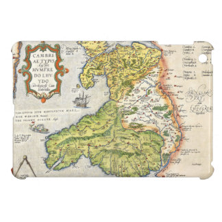 Vintage Map of Wales and Anglesey 1579 iPad Mini Covers