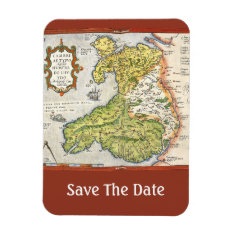 Vintage Map Of Wales And Anglesey 1579 Magnet at Zazzle