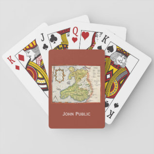 Vintage Map Of Wales And Anglesey 1579 Playing Cards at Zazzle
