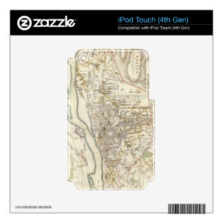 Vintage Map of Warsaw Poland (1831) Decal For iPod Touch 4G