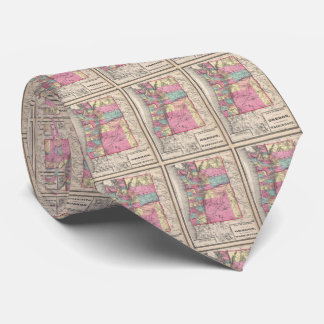 Vintage Map of Washington and Oregon (1872) Tie