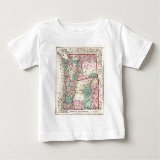 Vintage Map of Washington and Oregon (1875) Baby T-Shirt