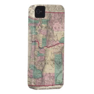 Vintage Map of Washington and Oregon (1875) iPhone 4 Case