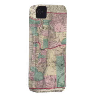 Vintage Map of Washington and Oregon (1875) iPhone 4 Case-Mate Case