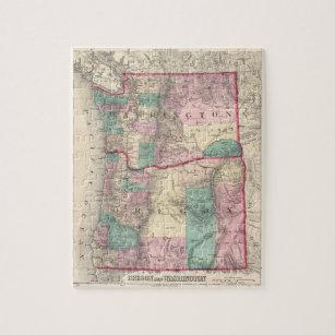 Vintage United States Map Jigsaw Puzzles Zazzle - Us-map-jigsaw-puzzle