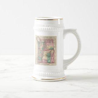 Vintage Map of Washington and Oregon (1875) Mug