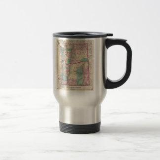 Vintage Map of Washington and Oregon (1875) Mugs