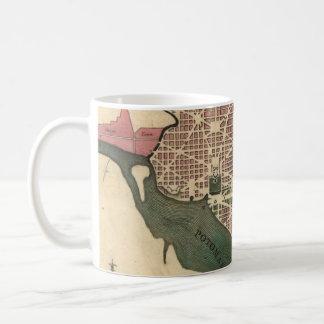 Vintage Map of Washington D.C. (1793) Coffee Mug