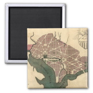 Vintage Map of Washington D.C. (1793) Magnet
