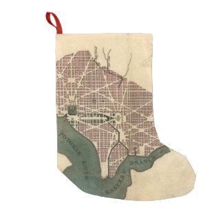 Vintage Map of Washington D.C. (1793) Small Christmas Stocking