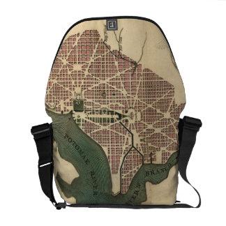 Vintage Map of Washington D.C. (1793) Messenger Bag