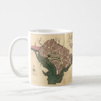 Vintage Map of Washington D.C. (1793) Mugs