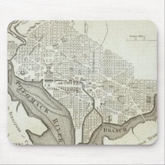 Vintage Map of Washington D C 1794 Mouse Pad