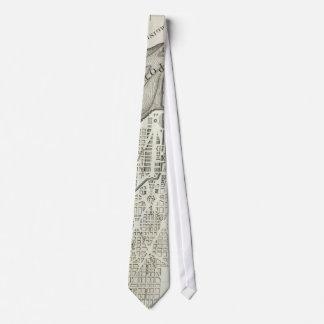 Vintage Map of Washington D.C. (1794) Neck Tie