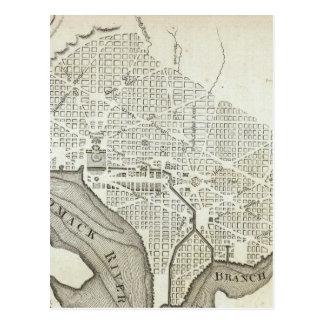 Vintage Map of Washington D.C. (1794) Postcard