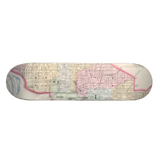 Vintage Map of Washington D.C. (1864) Skateboard Deck