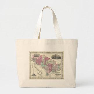 Vintage Map of Washington D.C. (1866) Tote Bags