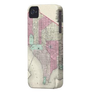 Vintage Map of Washington D.C. (1866) Case-Mate iPhone 4 Cases