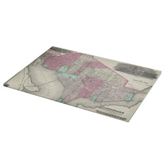 Vintage Map of Washington D.C. (1866) Cutting Boards