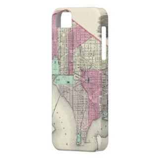 Vintage Map of Washington D.C. (1866) iPhone SE/5/5s Case