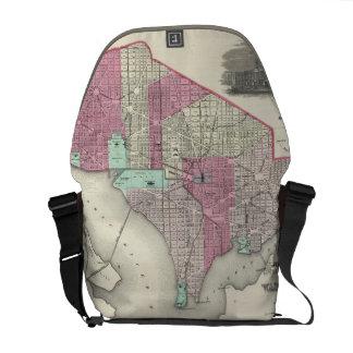 Vintage Map of Washington D.C. (1866) Commuter Bags