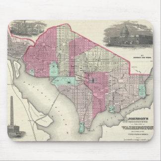 Vintage Map of Washington D C 1866 Mouse Pad