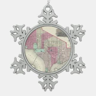 Vintage Map of Washington D.C. (1866) Ornaments