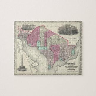 Vintage Map of Washington D.C. (1866) Jigsaw Puzzle