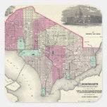Vintage Map of Washington D.C. (1866) Sticker