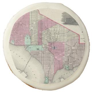 Vintage Map of Washington D.C. (1866) Sugar Cookie