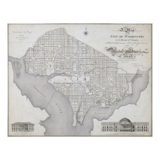 Vintage Map of Washington DC Posters