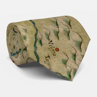 Vintage Map of West Africa (1561) Neck Tie