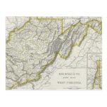 Vintage Map of West Virginia (1889) Postcard