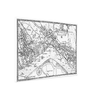 Vintage Map of Westminster (1593) Canvas Print