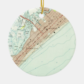 Vintage Map of Wildwood NJ (1955) Ceramic Ornament
