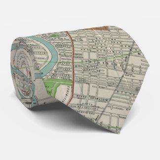 Vintage Map of Winnipeg Canada (1917) Tie