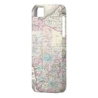 Vintage Map of Wisconsin (1855) iPhone SE/5/5s Case