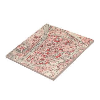 Vintage Map of Wurzburg Germany (1905) Ceramic Tile
