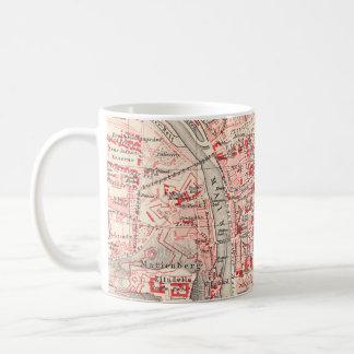 Vintage Map of Wurzburg Germany (1905) Coffee Mug
