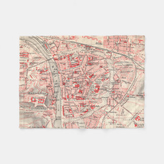 Vintage Map of Wurzburg Germany (1905) Fleece Blanket