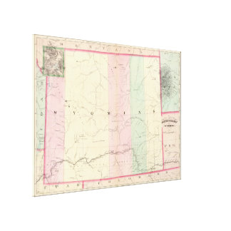 Vintage Map of Wyoming (1874) Canvas Print