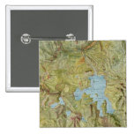 Vintage Map of Yellowstone National Park (1898) Button