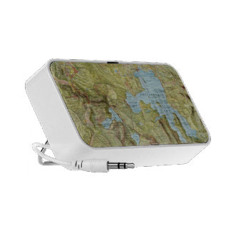 Vintage Map of Yellowstone National Park 1898 Portable Speakers