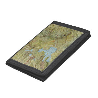 Vintage Map of Yellowstone National Park (1898) Tri-fold Wallets