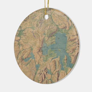Vintage Map of Yellowstone National Park (1914) Ceramic Ornament