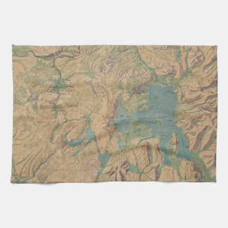 Vintage Map of Yellowstone National Park (1914) Kitchen Towels
