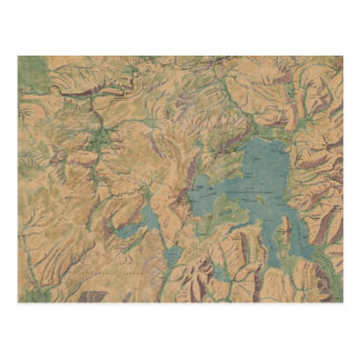 Vintage Map of Yellowstone National Park 1914 Postcard