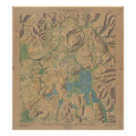 Vintage Map of Yellowstone National Park (1914) Poster