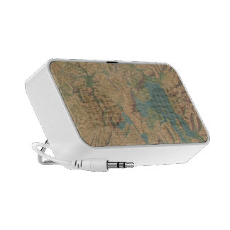 Vintage Map of Yellowstone National Park 1914 iPhone Speakers