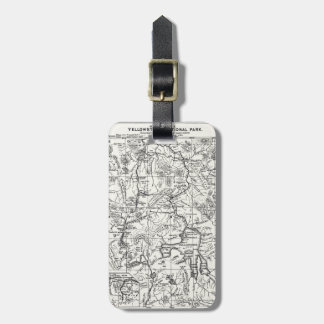 Vintage Map of Yellowstone National Park Bag Tag